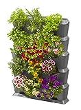 Gardena NatureUp! Kit de base vertical avec arrosage: mur végétal pour la végétalisation de balcons/terrasses/cours intérieures, kit de pour 15 plantes, système enfichable simple (13151-20)