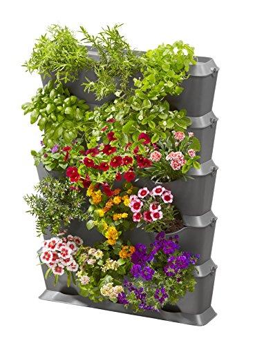 GARDENA NatureUp! Kit de jardin vertical avec arrosage : mur végétal pour la végétalisation de balcons / terrasses / cours intérieures, kit de pour 15 plantes, système enfichable simple (13151-20)