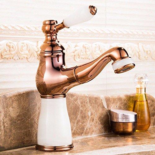 Moderne einfache kupferne heiße und kalte Küchenspüle Küchenhahn Küchenarmatur Jade Wasserhahn Waschbecken Ausziehbarer Wasserhahn Badezimmer Waschbecken Warmes und kaltes Bad Schrank Wasserhahn C -