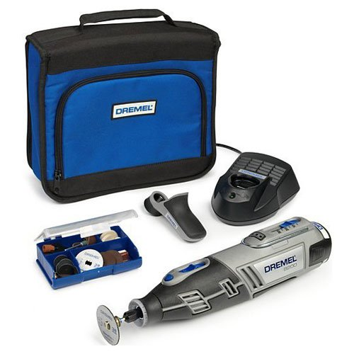 Elite Choice Dremel XS17-8200 10.8v Cordless Multi Tool + Grip Attachment + 35 Accessories with 1 Lithium Ion Battery (1) – Min 3yr Warranty