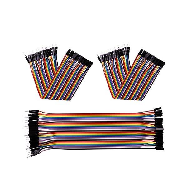 51AwL4 LgoL. SS600  - Elegoo 120 Piezas de Cable DuPont, 40 Pines Macho-Hembra, 40 Pines Macho-Macho, 40 Pines Hembra-Hembra, Cables Puente para Placas Prototipo (Protoboard) para Arduino, Kit de Cables para Arduino