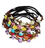 Sumolux Donne 12 pz Boho Stile Fiori Fascia del Fiore per le Ragazze / Fasce di Nozze Neonate Festival del Partito
