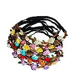 Sumolux Damen 12 Stück Boho Stil Blumen Stirnband für Mädchen/Baby Blumenmädchen Brautjungfern Braut Festival Partei Hochzeit Stirnbänder