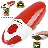 Bang Rui a mani libere velocità sicurezza l'apriscatole automatico con il bordo liscio a funzionamento elettrico (Rosso) immagine