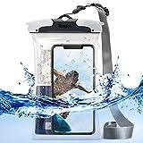 Ringke Round Pochette Étanche [Certifiée IPX8] Waterproof Bag Sac Étanche Protection Universel Coque Étui Imperméable - Grand (Noir)