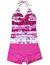 IINIIM 2 pcs Filles Sundress Maillots de bain 1pc Haut + 1pc Short Bikini Plage Combinaison