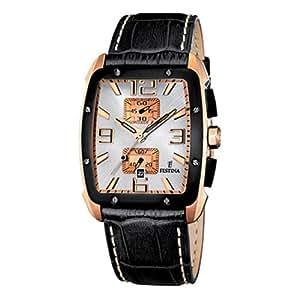 Festina - F16356/1 - Montre Homme - Quartz Chronographe - Bracelet Cuir Noir