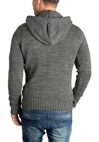 ... SOLID Philon Herren Strickpullover Strickhoodie Kapuzenpullover aus 100%  Baumwolle Meliert Dark Grey (2890) ...