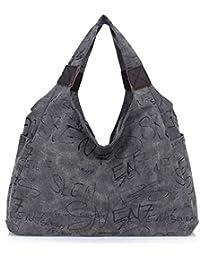BYD - Mujeres Man Unisex Large School Bag Bolsos totes Shopping Bag Canvas Bag Color puro Carteras de mano Bolsos bandolera