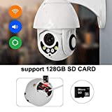 SPYON® WiFi IP Camera Outdoor Ptz 1080P HD 2mp Video Surveillance CamTwo Way