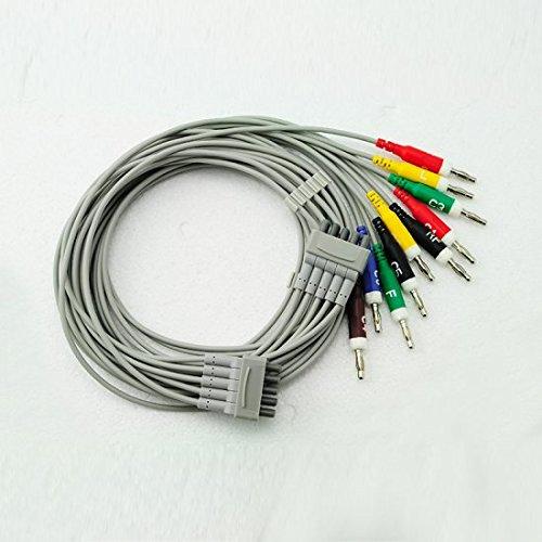 denshine 10Führen einfach Handheld tragbar ECG/EKG Kabel mit leadwire - Führen Ekg-kabel