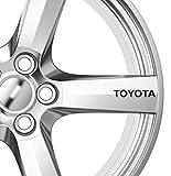 6 x Toyota Alufelgen Aufkleber, selbstklebend, Premium Qualität, Corolla Supra