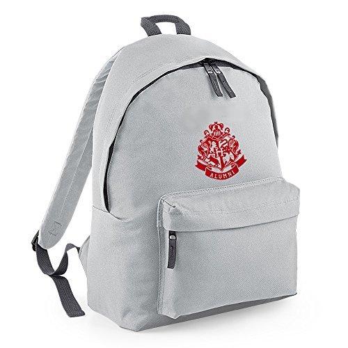 Inspired Hogwarts Alumni ricamo, backpack BAGS-Zaino grigio Taglia unica
