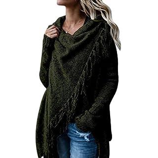 Womens Tassel Fringed V Front Vintage Plaid Pashmina Shawl Wrap Scarf Knitwear Tops Cloak Cape Poncho Sweater Jumper S-2XL …