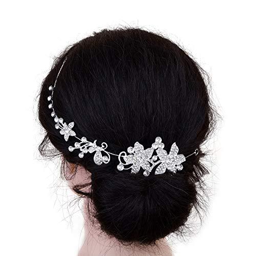 TOPQUEEN Hochzeits haarschmuck braut Strass Brautschmuck Kopfschmuck Diadem Hochzeit Haarspange hochzeitHaarkämme - Clean Soft Body Lotion