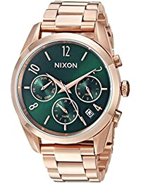 Nixon Women's 'Bullet Chrono 36' Quartz Stainless Steel Casual Watch, Color:Brown (Model: A9492806)