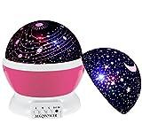 Sternenlicht Projektor, MKQPOWER Romantisch 3 Modi Bunte LED Moon Sky Star + Galaxy Rotierende Kosmos Star Light Projektor für Kinder Kinder Baby Schlafzimmer (Blau)