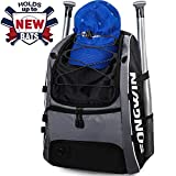 Songwin Youth Baseball Bat Bag - Borsa da Baseball & Baseball, Softball Equipment & Gear per Ragazzi e Ragazze | Contiene Pipistrello, Casco, Guanti | Fence Hook