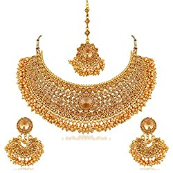 The product is of Gold Color. It is made of gold-plated.