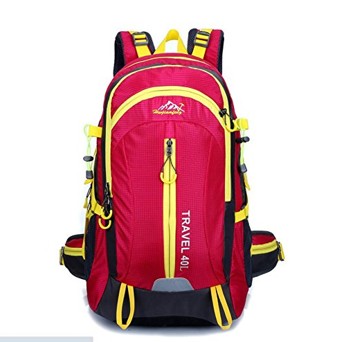 LQABW Reisen Im Freien Frauen 40L Antike Professionelle Mountaineering Schulter Männer Tasche Wasserdicht Atmungsreisewanderrucksack Pink