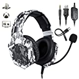 Gaming Headset for PS4 Xbox One with Microphone , Over Ear Stereo Headphone