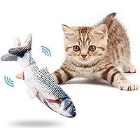 Elektrisches Fischspielzeug Katzenspielzeug Plüschsimulation Fischspielzeug mit USB-Ladefischspielzeug für Katzen zum…