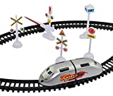 #2: High Speed Metro Train with Flyover & Track, Signal Accessories, Big Size Train Track Set for Kids (SILVER)