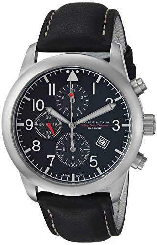 Momentum Men's Analog Japanese-Quartz Watch with Leather Strap 1M-SN34BS2B