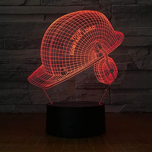 Hut 7 färben kreatives Licht des Sichtbarmachens 3d Acrylbettkopf-Dekorationsnachtlicht (Licht Spielzeug Mit Hut Harten)