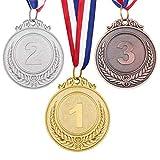 TOYANDONA 3 Pezzi medaglie in Metallo, Oro Argento Bronzo medaglie vincenti per Sport, competizioni, bomboniere