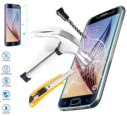 VITRE PROTECTION Ecran film en VERRE Trempé pour LOGICOM L-ement 551 filtre protecteur d'écran INVISIBLE & INRAYABLE vitre INCASSABLE Ecran Antichoc Resistante pour Smartphone logicom L-ement 551