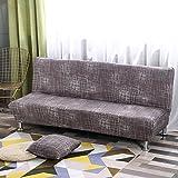 ele ELEOPTION Sofa Überwurf Elastisch Sofahusse 3 sitzer Sofabezug Stretch Schlafsofa Bezug für Faltbar Sofabett Armless Sessel und die Couch Ohne armlehne (Stil 7)