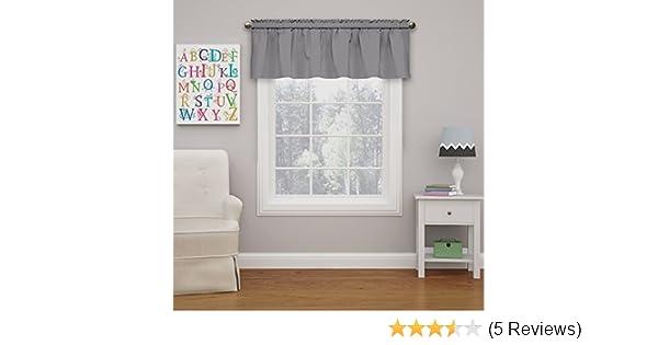 Eclipse Kids 15503042X018GRE Microfiber 42-Inch by 18-Inch Room Darkening Window Valance Grey
