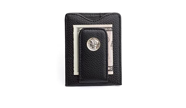 80M-BLK Tokens /& Icons Mercury Dime Money Clip Wallet Black
