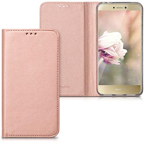 kwmobile huawei p8 lite (2017) cover - custodia a libro in simil pelle pu per smartphone huawei p8 lite (2017) - flip case protettiva