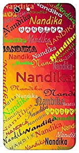 Nandika (Goddess Lakshmi, water vessel made up of clay) Name & Sign Printed All over customize & Personalized!! Protective back cover for your Smart Phone : Moto E-2 ( 2nd Gen )