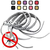 Original Kinven® Mosquito Repellent Bracelet Natural DEET FREE Insect Repellent Bands - Mosquito Killer up to 360Hrs Protection Outdoor and Indoor, for Adults and Kids, 4 bracelets - Colour: Silver