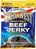 Wild West Sweet n Spicy Beef Jerky Carne seca Dulce y Picante Paquete de 12 x 25g