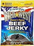 Wild West Sweet n Spicy Beef Jerky Carne seca Dulce y Picante Paquete de 12 x 25g