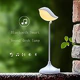 PIO Lámpara de escritorio lámpara inteligente de la protección de ojo llevó el tacto Lámpara de escritorio audio de Bluetooth 120 × 120 × 180m m , White light