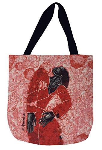 Schattierungen der Farbe Woven Tasche von Ponchos, sicherlich, 43,2x 43,2cm (wtb006)