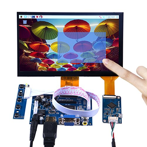 Price comparison product image GeeekPi 7 Inch 1024x600 Capacitive Touch Screen LCD Display HDMI Monitor DIY Kit for Raspberry Pi / Beagle Bone Black / PC / MacBook