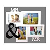Preis am Stiel Bilderrahmen Mr. & Mr. | für 4 Fotos | Liebe | Familie | Deko | Wohnen | Wohnaccessoires | Haushalt | Liebe | Wand | Freundschaft | Geschenk | Glas | Valentienstag