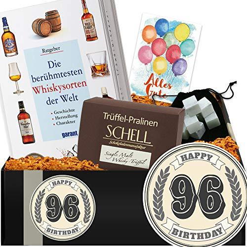 Geschenkidee 96. Jubiläum | Geschenkbox Whiskykenner | 96 Geburtstag Frau