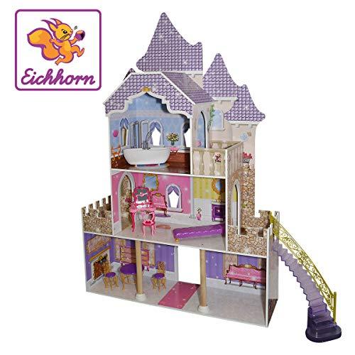 Eichhorn 100002535 Puppenhaus Groß, inklusive Möbeln, Bunt