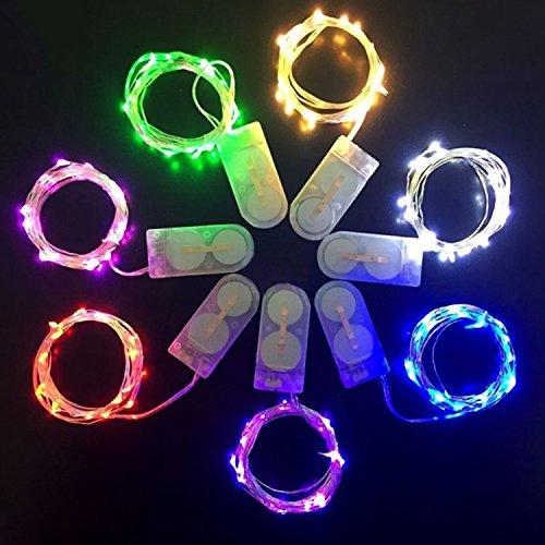 30 leds luci stringa eugo 9.8ft fili rame bianco caldo per decorativi 7 pezzi,per la decorazione casa matrimonio natale partito rame filo della lampada, a batteria (inclusa)