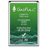 GadFull Batterie pour LG G3 | Date de Production est 2018 | correspond à l'BL-53YH | Lithium-Ionen-batterie d'origine du modèle G3 D830 | D851 | D855 | LS990 | Parfait comme batterie de remplacement