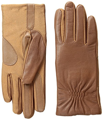 Isotoner Women's Stretch Leather smarTouch Gloves, Luggage, Large/X-Large