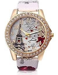 Dosige Torre Eiffel Amor Pulsera del Reloj Reloj de Cuarzo de Pulsera Mujeres Accesorios de Moda(…