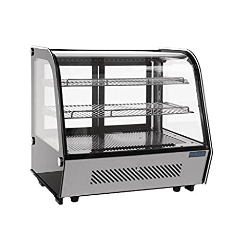 Polar Refrigerated Countertop Display Chiller 160L Curved Top Commercial Fridge